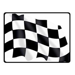 Flag Chess Corse Race Auto Road Double Sided Fleece Blanket (small)
