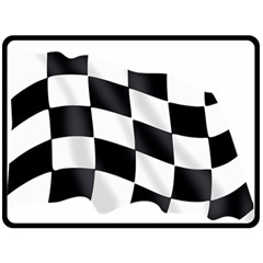 Flag Chess Corse Race Auto Road Double Sided Fleece Blanket (Large)