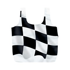 Flag Chess Corse Race Auto Road Full Print Recycle Bags (m)