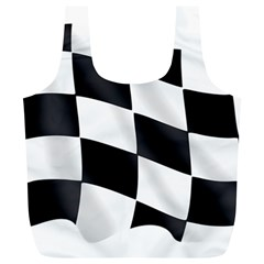 Flag Chess Corse Race Auto Road Full Print Recycle Bags (l)