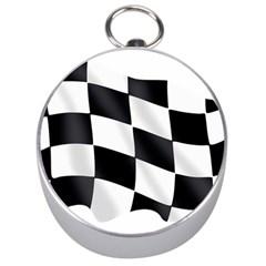 Flag Chess Corse Race Auto Road Silver Compasses