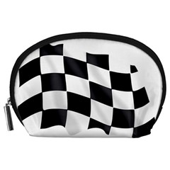 Flag Chess Corse Race Auto Road Accessory Pouches (large)