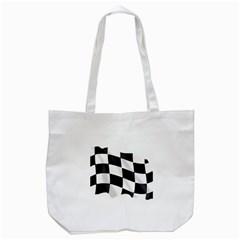 Flag Chess Corse Race Auto Road Tote Bag (white)