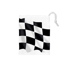 Flag Chess Corse Race Auto Road Drawstring Pouches (Small)