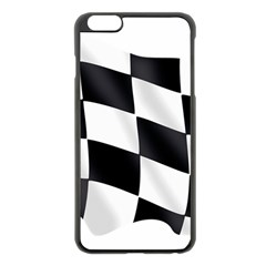 Flag Chess Corse Race Auto Road Apple Iphone 6 Plus/6s Plus Black Enamel Case