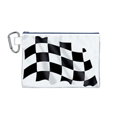 Flag Chess Corse Race Auto Road Canvas Cosmetic Bag (m)