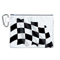 Flag Chess Corse Race Auto Road Canvas Cosmetic Bag (l)