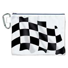Flag Chess Corse Race Auto Road Canvas Cosmetic Bag (XXL)
