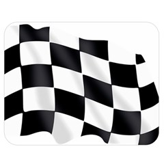 Flag Chess Corse Race Auto Road Double Sided Flano Blanket (medium)
