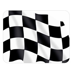 Flag Chess Corse Race Auto Road Double Sided Flano Blanket (large)