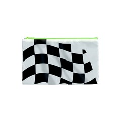 Flag Chess Corse Race Auto Road Cosmetic Bag (xs)