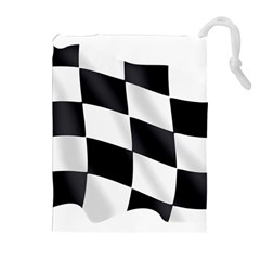 Flag Chess Corse Race Auto Road Drawstring Pouches (extra Large)