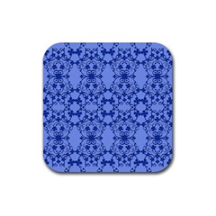 Floral Ornament Baby Boy Design Rubber Square Coaster (4 Pack)