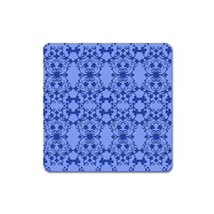 Floral Ornament Baby Boy Design Square Magnet