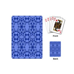 Floral Ornament Baby Boy Design Playing Cards (Mini)