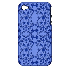 Floral Ornament Baby Boy Design Apple Iphone 4/4s Hardshell Case (pc+silicone)