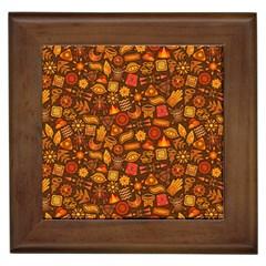 Pattern Background Ethnic Tribal Framed Tiles