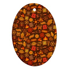 Pattern Background Ethnic Tribal Ornament (oval)