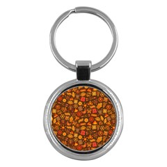 Pattern Background Ethnic Tribal Key Chains (round)