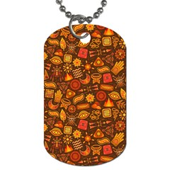 Pattern Background Ethnic Tribal Dog Tag (two Sides)