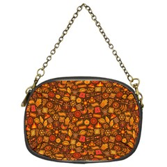 Pattern Background Ethnic Tribal Chain Purses (one Side)