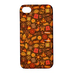 Pattern Background Ethnic Tribal Apple Iphone 4/4s Hardshell Case With Stand