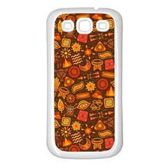 Pattern Background Ethnic Tribal Samsung Galaxy S3 Back Case (white)