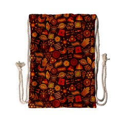Pattern Background Ethnic Tribal Drawstring Bag (small)
