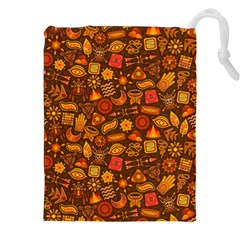 Pattern Background Ethnic Tribal Drawstring Pouches (xxl)
