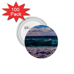 Wave Foam Spray Sea Water Nature 1 75  Buttons (100 Pack)