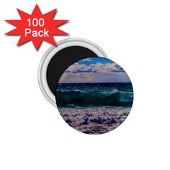 Wave Foam Spray Sea Water Nature 1 75  Magnets (100 Pack)