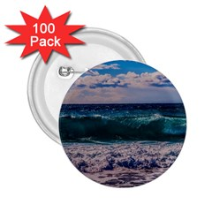 Wave Foam Spray Sea Water Nature 2 25  Buttons (100 Pack)