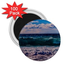 Wave Foam Spray Sea Water Nature 2 25  Magnets (100 Pack)