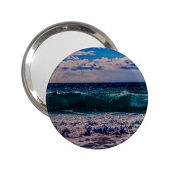 Wave Foam Spray Sea Water Nature 2 25  Handbag Mirrors