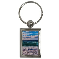 Wave Foam Spray Sea Water Nature Key Chains (rectangle)