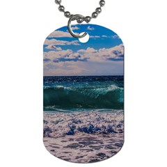Wave Foam Spray Sea Water Nature Dog Tag (two Sides)