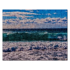 Wave Foam Spray Sea Water Nature Rectangular Jigsaw Puzzl