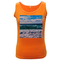 Wave Foam Spray Sea Water Nature Women s Dark Tank Top