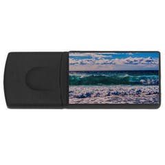 Wave Foam Spray Sea Water Nature USB Flash Drive Rectangular (4 GB)