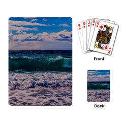 Wave Foam Spray Sea Water Nature Playing Card