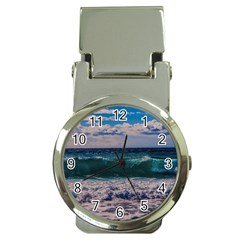 Wave Foam Spray Sea Water Nature Money Clip Watches