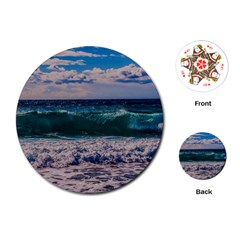 Wave Foam Spray Sea Water Nature Playing Cards (Round)