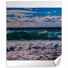Wave Foam Spray Sea Water Nature Canvas 8  X 10