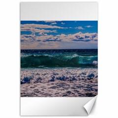 Wave Foam Spray Sea Water Nature Canvas 12  X 18