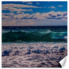 Wave Foam Spray Sea Water Nature Canvas 20  X 20