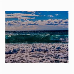 Wave Foam Spray Sea Water Nature Small Glasses Cloth (2-Side)