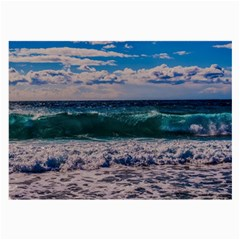 Wave Foam Spray Sea Water Nature Large Glasses Cloth