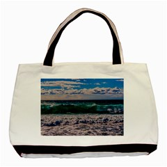 Wave Foam Spray Sea Water Nature Basic Tote Bag (two Sides)