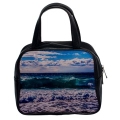 Wave Foam Spray Sea Water Nature Classic Handbags (2 Sides)