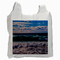 Wave Foam Spray Sea Water Nature Recycle Bag (two Side)